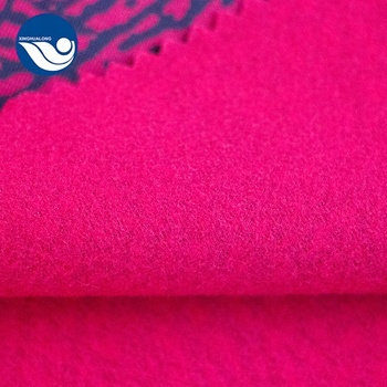 Pink Leopard Print Super Poly Printed Knitted Satin Fabric