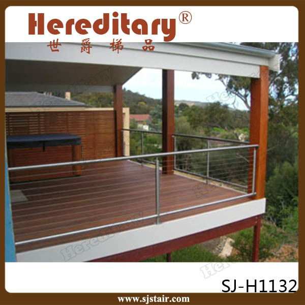 Modern Metal Deck Cable Railing Systems Steel Parts