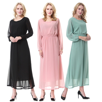 Elegant Colors Polyester Islamic Casual Muslim Islamic Clothing For Women