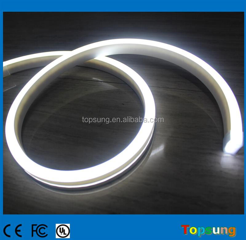 Newest style led neon light 12V waterproof ip67 11x19mm flat led neon flex tube white emitting light for rooms