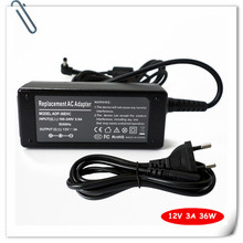 36W Laptop AC Adapter Charger for Asus Eee PC 900A 900SD 900HD 904HD 904HA 904HG Notebook Power Supply Cord + Cable Plug