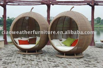 big rattan round apple garden sofa bed furniture buy wicker garden sofa bed rattan outdoor. Black Bedroom Furniture Sets. Home Design Ideas