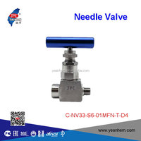 "Taiwan electronics SS316 1/8"" female and male thread needle valves"