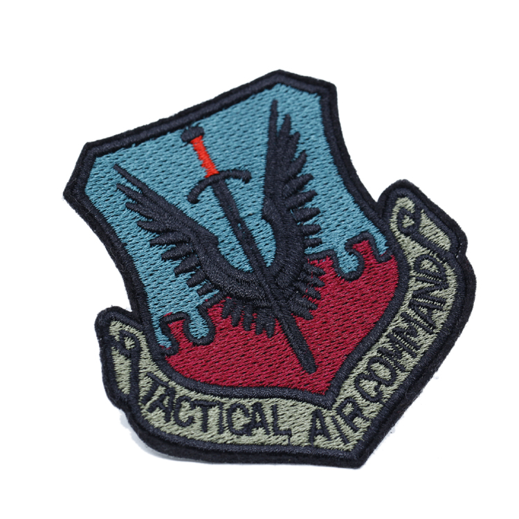 High Density Garment Decoration Embroidered Badge Custom Embroidery Patch for Clothing