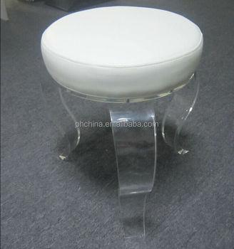 Sgabelli In Plexiglass.Jac 377 Rotondo Acrilico Sgabello Con Cuscino Bianco Plexiglass Sgabello Con Cuscino Per Le Ragazze Lucite Sgabello Tempo Libero Buy Acrilico