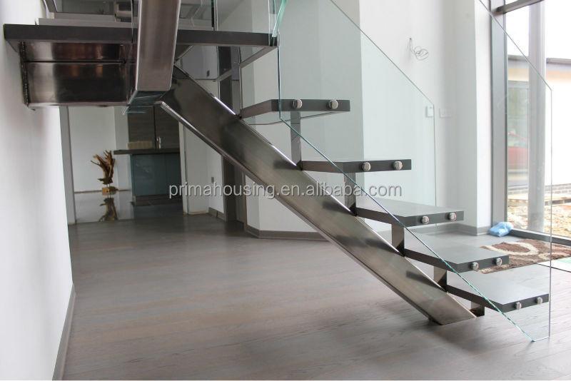 Modern Steel Wood Staircase/steel Beam Stairs