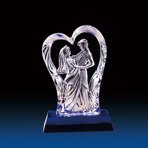 Wholes Crystal Wedding Gifts Decorations Love Statue