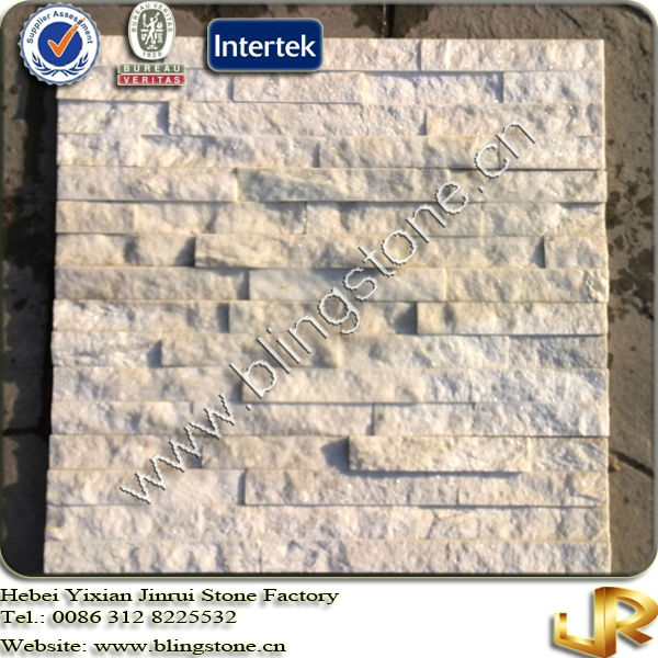Natural Quartzite Snow White Wall Panel