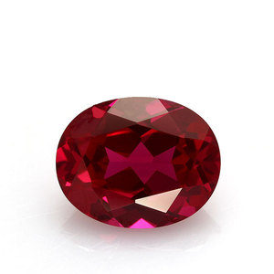 Oval Shape #3 #5 Corundum Pink/Red Synthetic Ruby Stone Prices