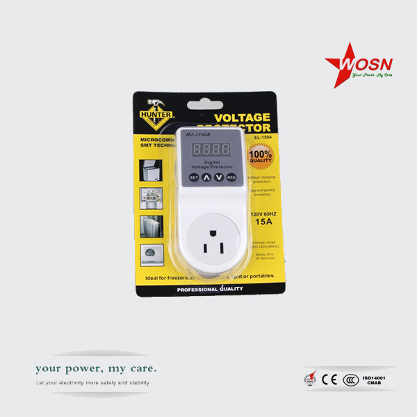 Residential/General voltage protector/voltage socket with LCD display