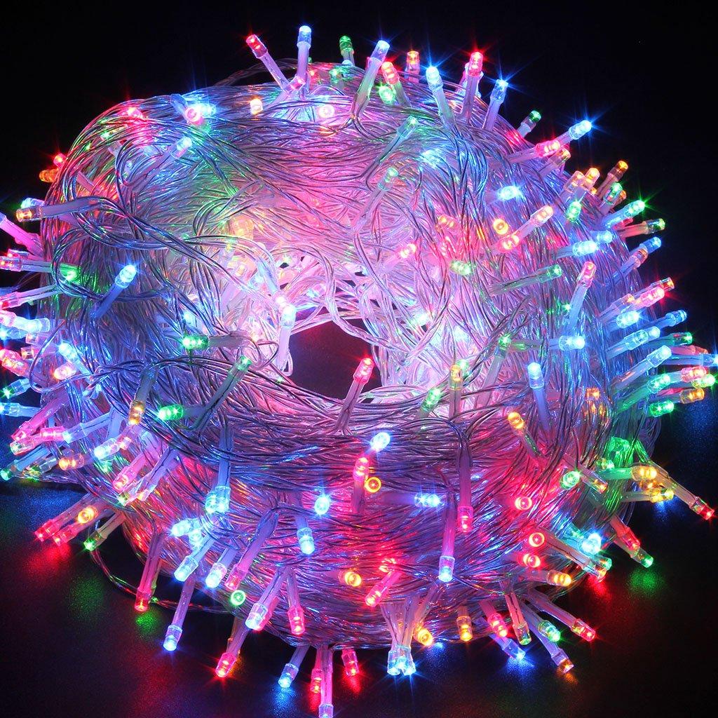 get quotations excelvan safe 24v 8 modes 500 leds 100m328ft christmas lights fairy lights dc transformer