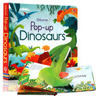Pop up Dinosaurs English Educational 3D Flap Picture Books Baby Children Reading Book