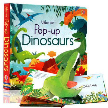 Pop-up Dinosaurier Englisch Educational 3D Flap Bilderbücher Baby Kinder Lesebuch