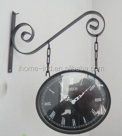 outdoor garden clock bird sound antique clock double sided station clock