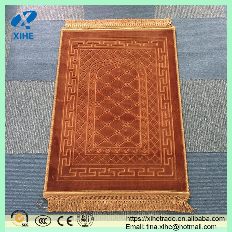 Good Quality Thick Emboss Muslim Prayer Mat Uk Rugs For