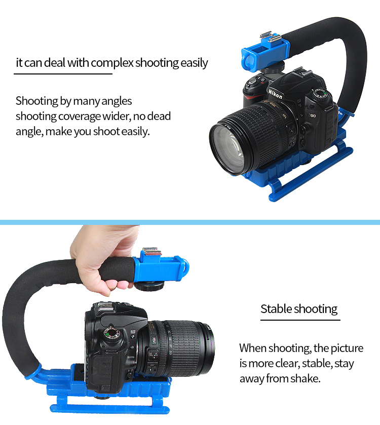 YEALNGU Durable Metal Low Position Shooting C-shape Rig Stabilizer For DSLR Camcorders