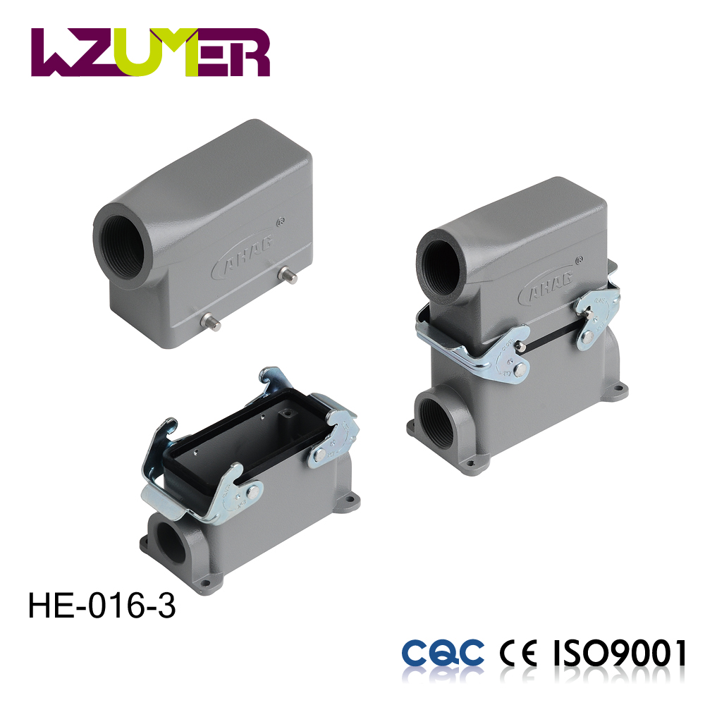 WZUMER Heavy duty industrial connector 16 pin male and female connector automotive electrical terminal