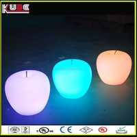 modern bedside plastic LED glow table lamp with battery