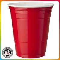 American 16oz red plastic party cup