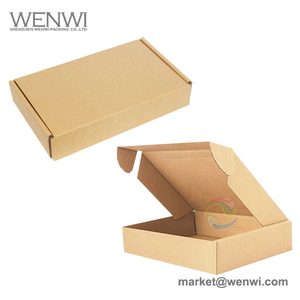 Recycled Standard Size E Flute corrugated Mailer Clothes Packaging Box