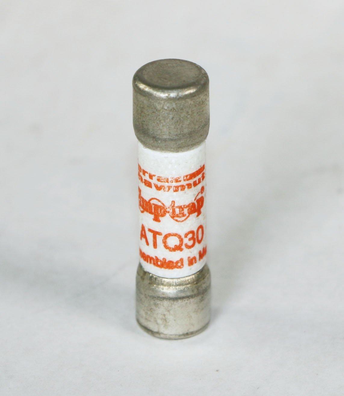 Ferraz Shawmut Brand ATQ-30 30 Amp (ATQ 30) Midget Time-Delay Fuses 500VAC