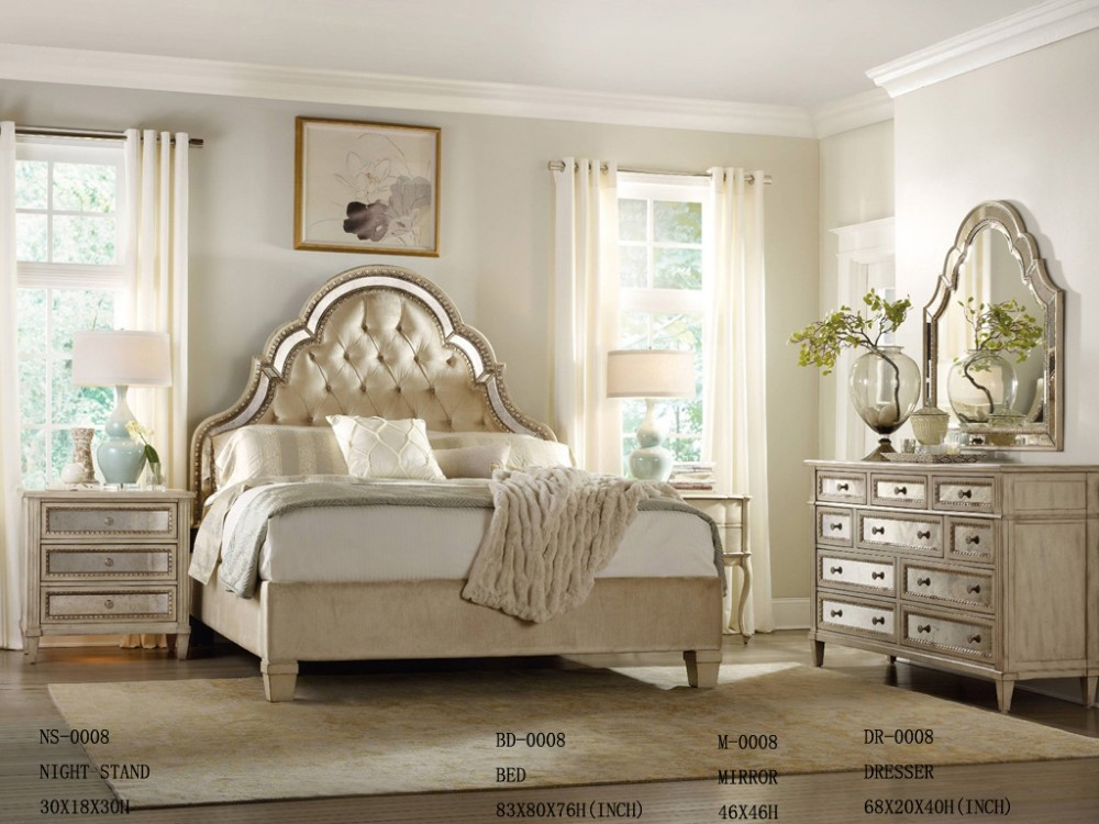 M lamine ensemble de chambre coucher meubles japonais for Gold and white bedroom designs