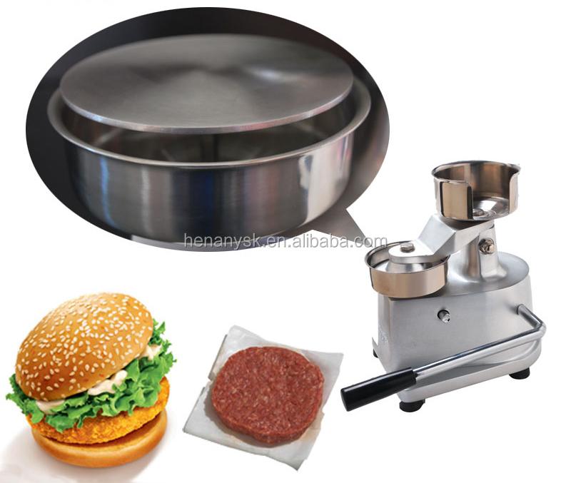 100mm Stainless Steel Manual Burger Hamburger Bun Press Bread Making Forming MaQuina Patty Maker Machine Equipment