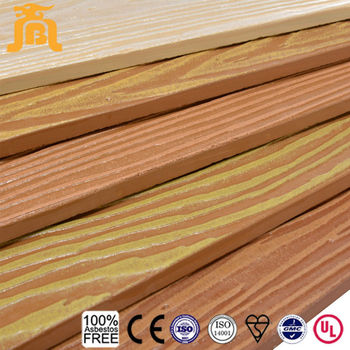 Wear Resistant Non Flammable Imitate Natural Wood Texture Fiber Cement Board