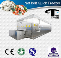 250kg/h Best selling stainless belt quick freezer/Food freezing equipment/Seafood Freezing IQF/Capacity