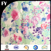 Custom digital printed 100 natural cotton voile for baby clothing