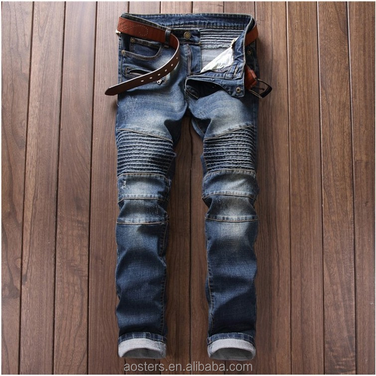 ea657d0c41 Mezcla artículo religioso Jean Denim agujeros rotos nueva moda Pantalones  vaqueros