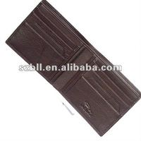 2012 high quality convenient leather wallet/purse for men