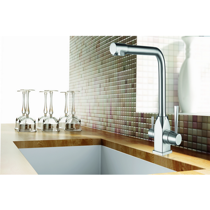 ST-028 Stainless Steel Kitchen Faucet RO Dual lever two-hole kitchen faucet