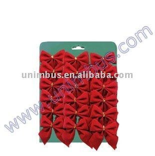 Christmas Tree Gift Wrap Red Decorative Mini Bows