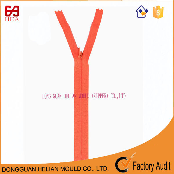 Wholesale #3 high quality nylon close end invisible zipper