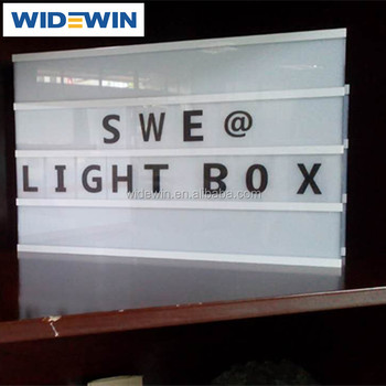 pubblicità diy lettera retroilluminato a led light box per la