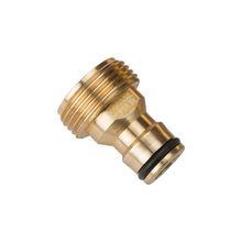 "Messing Slang Tap Connector 3/4 ""schroefdraad tuin waterleiding Quick Adapter Fitting tepel joint HX-3624"