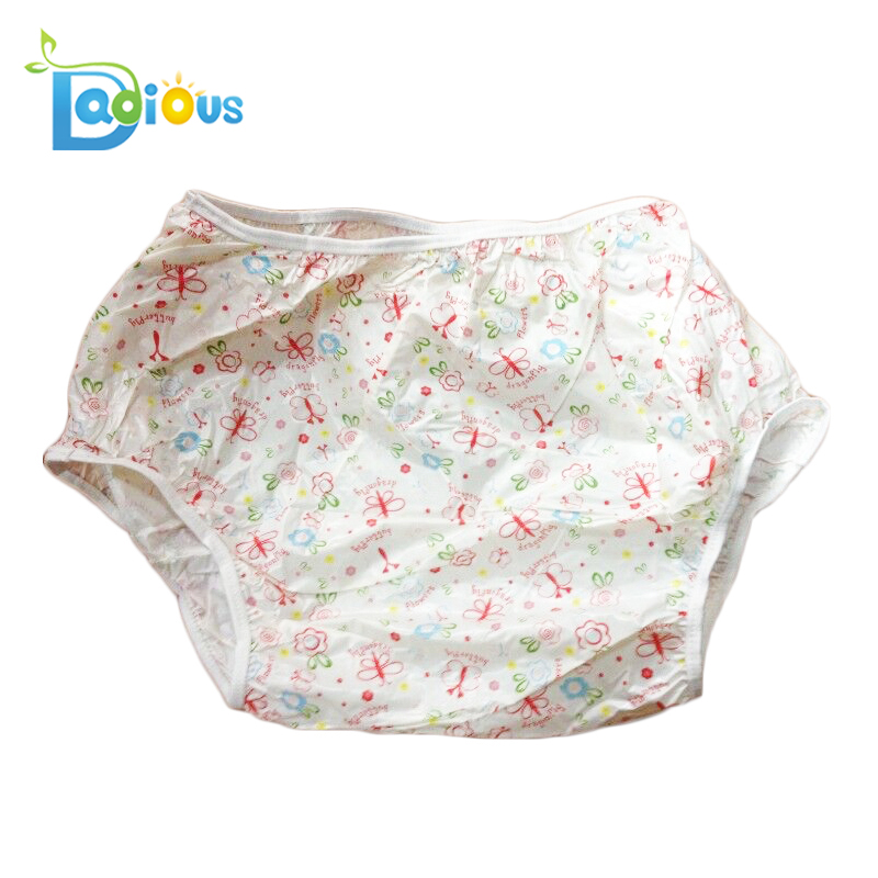 ABDL White Color Adult Baby PVC Plastic Pants For Cloth Diaper