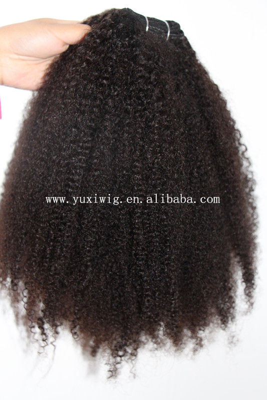 Wholesale Kinky Curly Human Hair Weave Virgin Brazilian Hair Extension
