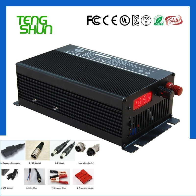 factory price CE FCC approved 36v 20a 48v 15a 60v 10a 900W golf cart forklift lithium battery charger