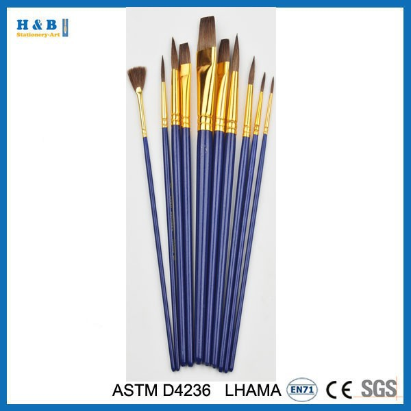 10pcs Golden Nylon art Brush Set