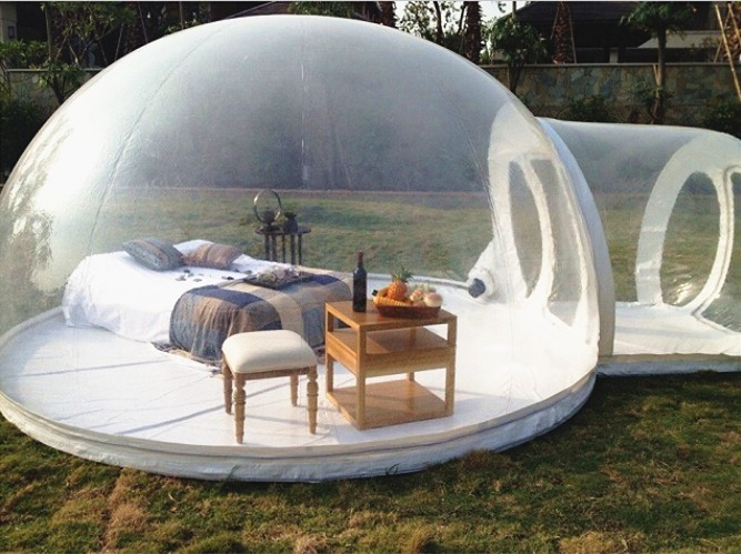2017 hot sale inflatable bubble transparent tent for party