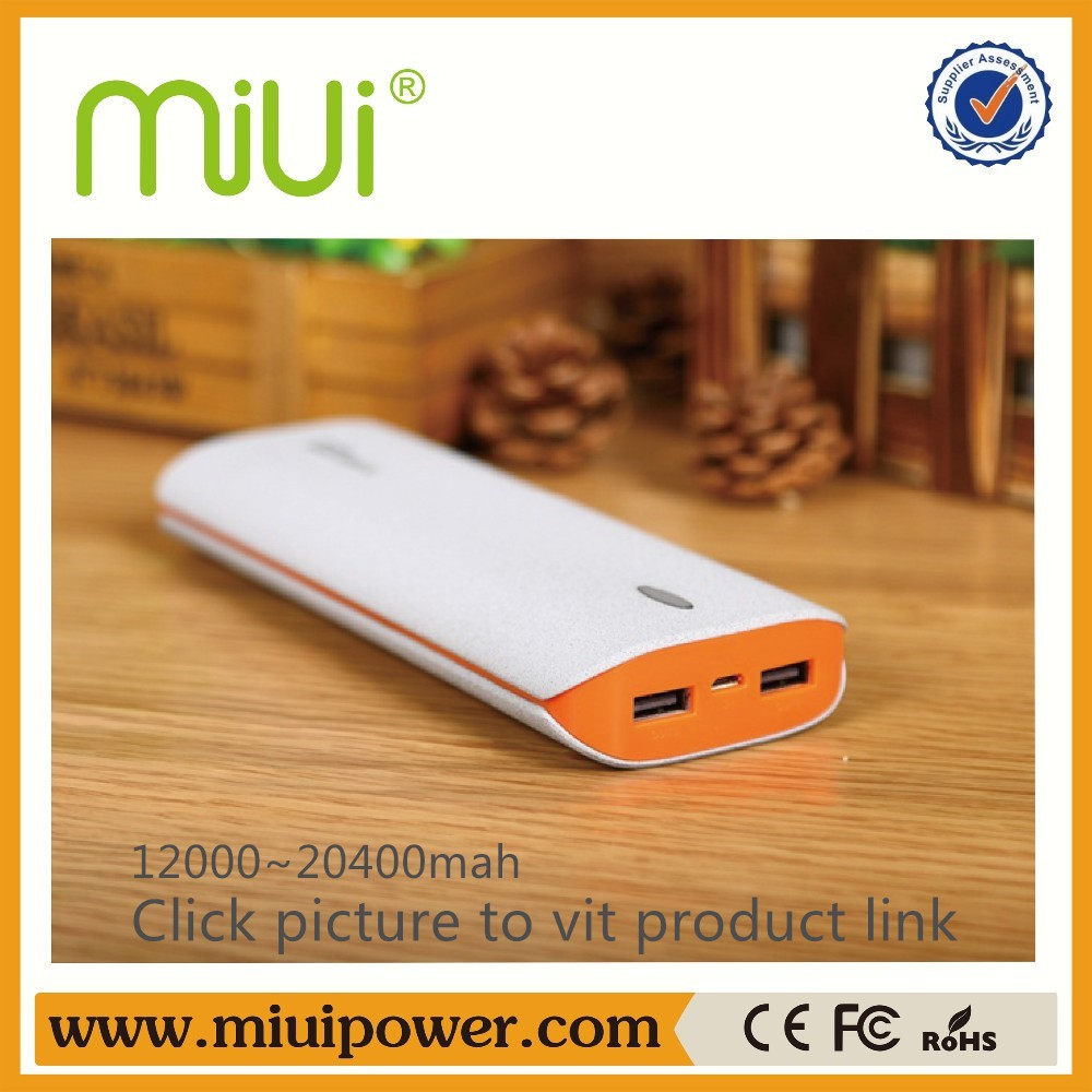 Shenzhen MIUI BRAND 20000mah High Capacity Latest Uni Power Bank For Selfie Stick