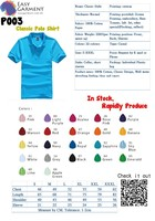 100% cotton High Quality Customized Logo Printed Blank 220 grams Casual polo tee shirt color