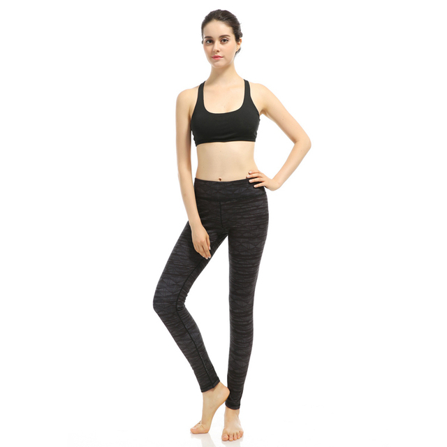 4c85ae85c7 Quick Dry Elastic Yoga Pants Brand Yoga Leggings Women Sweatpants Fitness  Tights Running Sports Pants Lady