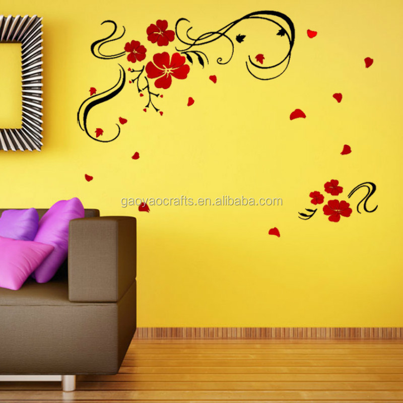 3D art painting Acrylic wall stickers three-dimensional flower wall decal creative TV sofa background decor wallaper