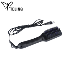 High Quality Fast Hair Straightener Brush 2018 Ceramic Iron Electric Straightening Hair Comb Brush