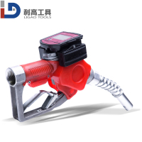 Top Selling Automatic Fuel Nozzle with Flow Meter oil gun 1'' digital fuel nozzle with flow meter