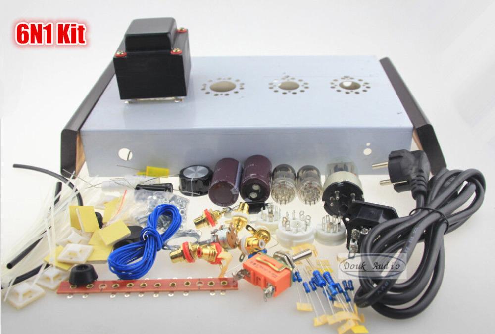 Tube Amplifier DIY Kit Douk audio 6n1*2+6z5p tube Pre AMP ...