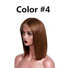1b27 Боб Реми Омбре блонд кружева фронта человеческих волос парики prepucked парик черный бордовый бразильский прямой боб парик для женщин(Китай)
